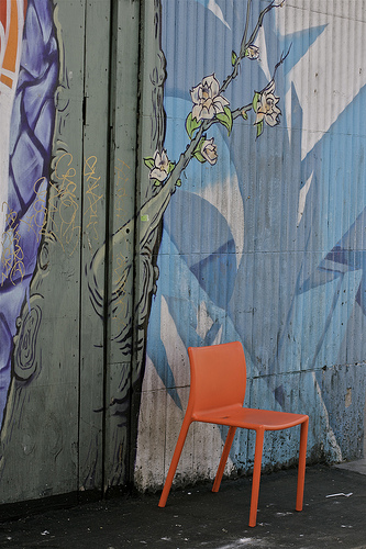 One Orange Chair